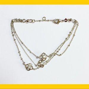 NEW KENDRA SCOTT Rue Silver CZ Bracelet 3-Strand